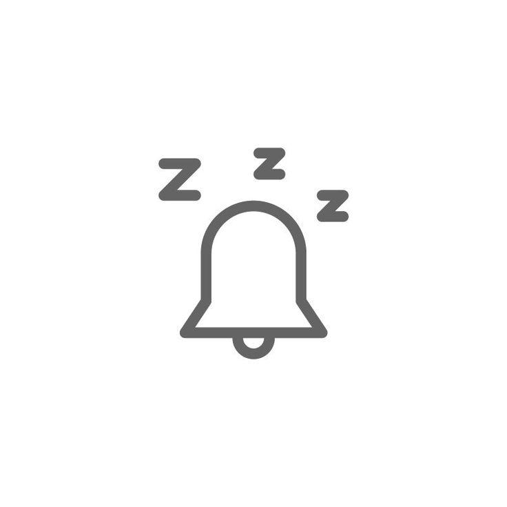 Alarm snooze icon snooze alarm bell icon logo symbol