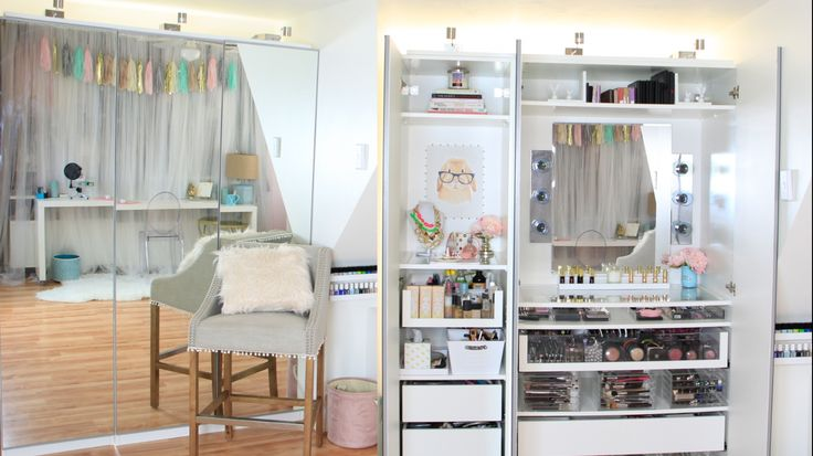 ♡My Makeup Tour - PAX Wardrobe Vanity Bookcase https://www.youtube.com/watch?v=DgcYLbUr8Xo