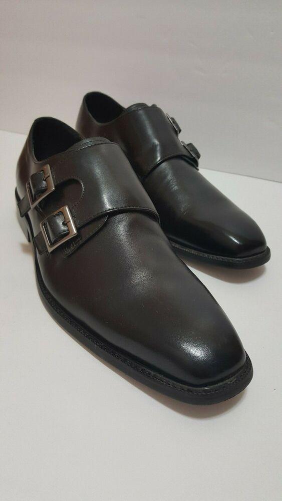 d9be8276d63 New Men's Steve Madden Double Monk Strap Dress Shoes Blk size 8M ...