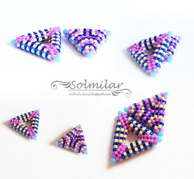 SolmilarArt: Beading: Kolorowe trójkąty