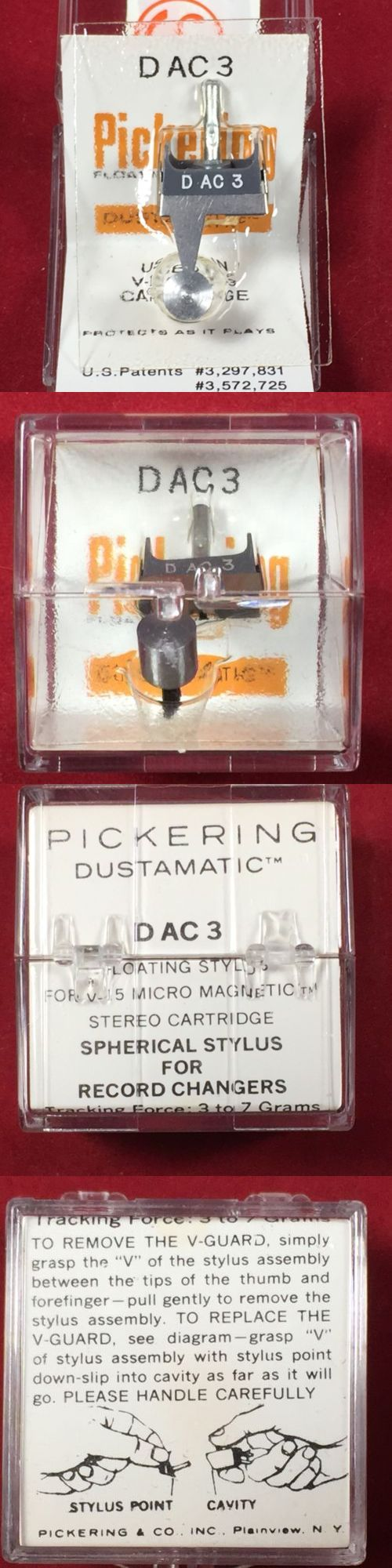 Record Player Turntable Parts: Genuine Pickering D Ac3 Stylus Needle W/ Brush For V-15/Ac-3 Turntable Cartridge -> BUY IT NOW ONLY: $49.99 on eBay!