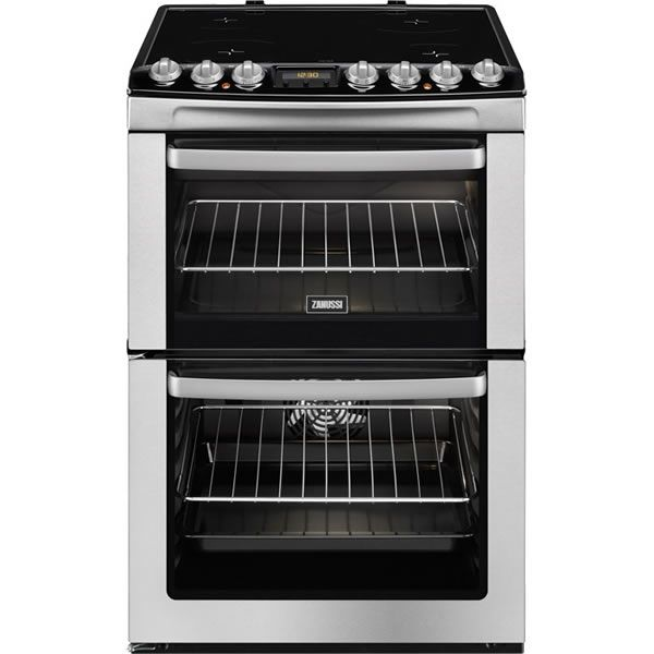 Zanussi ZCV66AEXC 600mm Double Electric Cooker Ceramic Hob S/Steel http://www.MightGet.com/january-2017-13/zanussi-zcv66aexc.asp