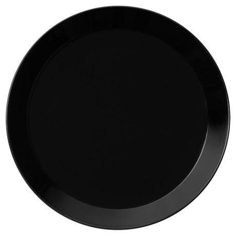 Iittala Teema sort stor tallerken 26cm. Den kan ses her på: http://bestiksaet.dk/tallerkner/iittala-tallerkener/iittalateema.html