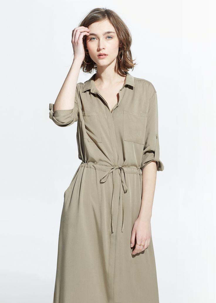 Рубашка с длинными платье - Женщины   MANGO