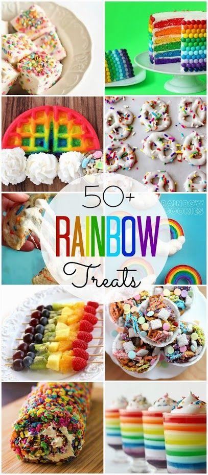 50 Rainbox treats // 50 dulces de colores