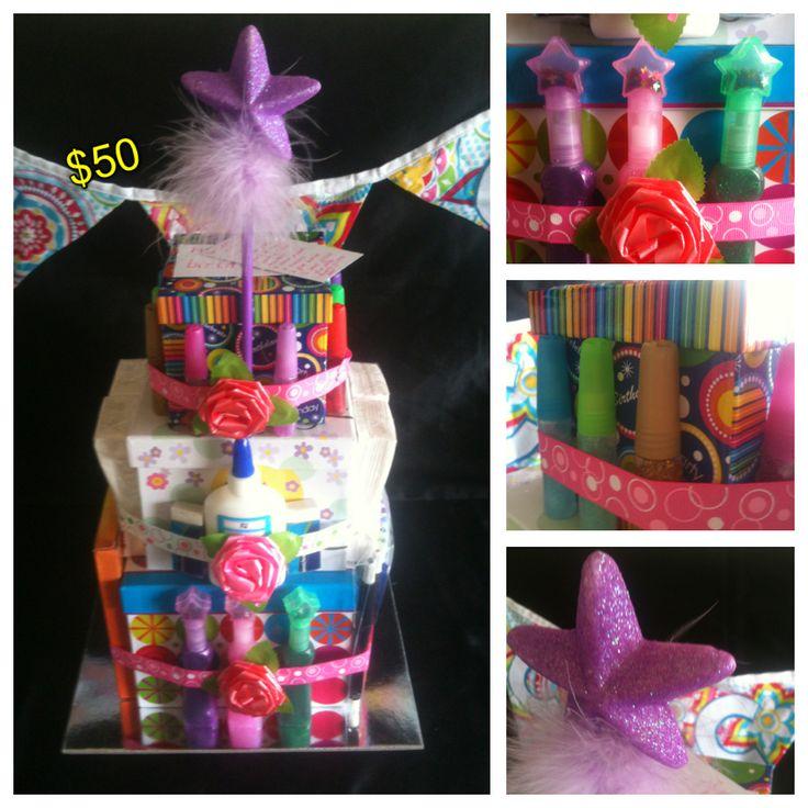 Girls Craft Cake $50