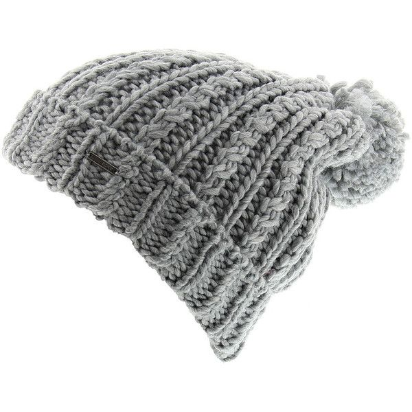 Roxy Women's Love is a Distraction Beanie Grey Hats One Size ($22) ❤ liked on Polyvore featuring accessories, hats, grey, pom pom beanie hat, beanie hats, pom beanie, grey beanie hat and roxy hats