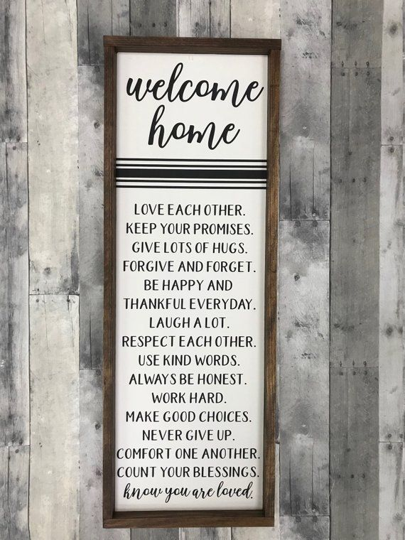 Welcome Home/ You are loved/ Entryway Sign/ Home Sign/ Family sign/ Farmhouse sign/ Joanna Gaines