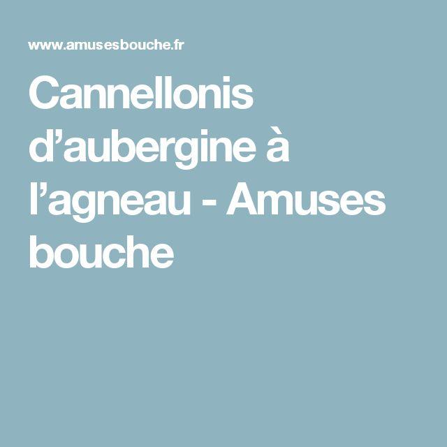 Cannellonis d'aubergine à l'agneau - Amuses bouche