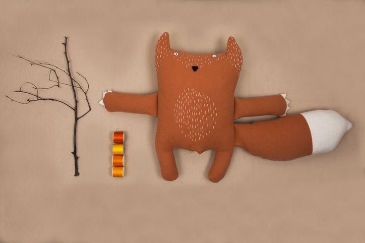 Soft fix toy, plush toy, soft toy, pooka, pookatoys, woolen fox, kids design