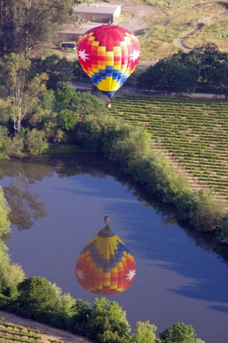 Ballooning over Wine Country