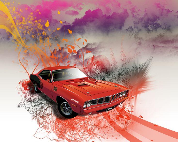 Best Car Artwork Images On Pinterest Automotive Art Art
