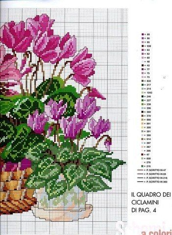 Bordados de flores en punto de cruz04                                                                                                                                                      Más