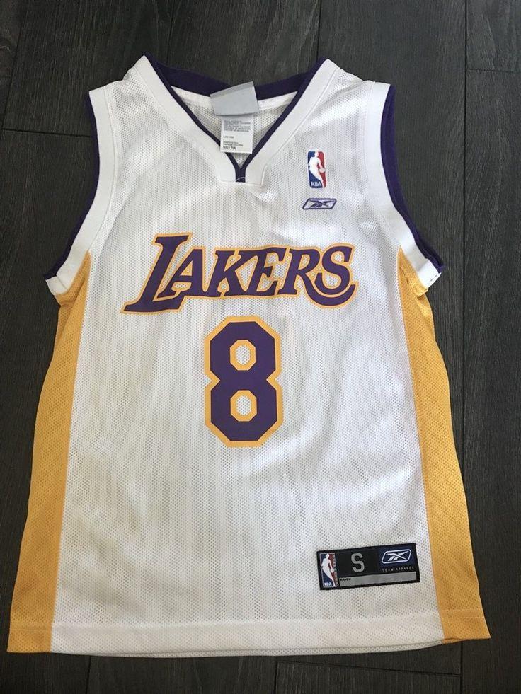 Vintage Kobe Bryant Lakers #8 Basketball Jersey Reebok Size Youth ...