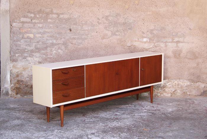 Best 25 buffet teck ideas on pinterest meubles teck meubles mid century a - Buffet vintage scandinave ...