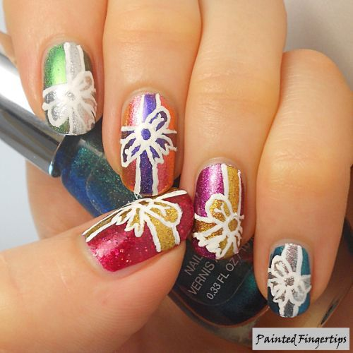 The 25 best christmas present nail art ideas on pinterest easy christmas present nail art designs ideas 2015 prinsesfo Gallery