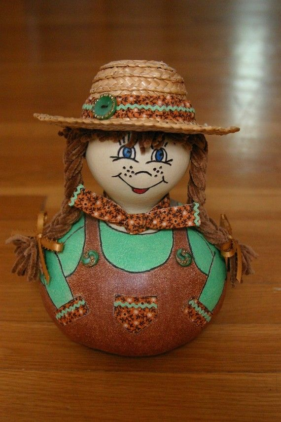 Cowgirl Gourd Doll Country Lovin Sunshine Susie by myladyofgourds, $35.00