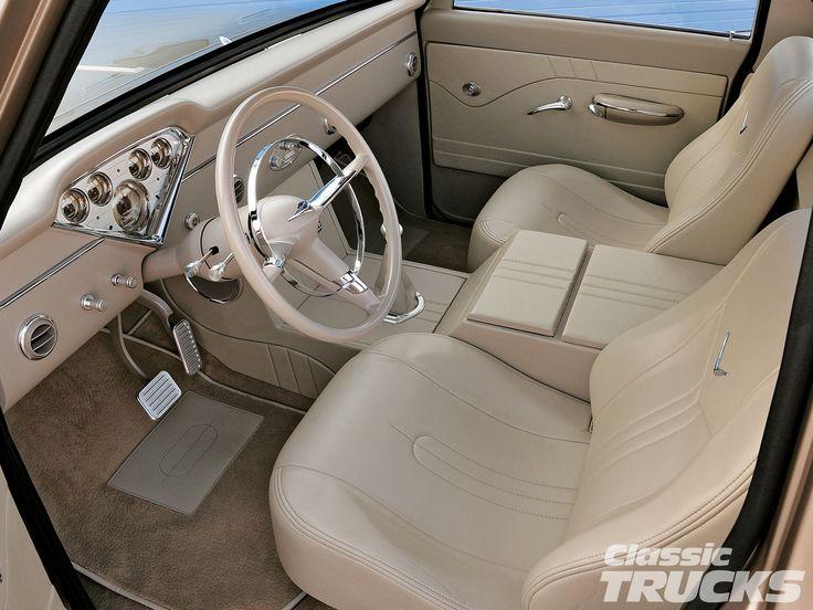 1005clt 03 o 1968 chevy c10 pickup truck custom leather - Custom leather interior for trucks ...