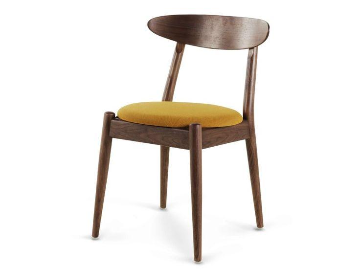 Upholstered wooden chair LOUISIANA Wohlert Collection by STELLAR WORKS | design Vilhelm Wohlert