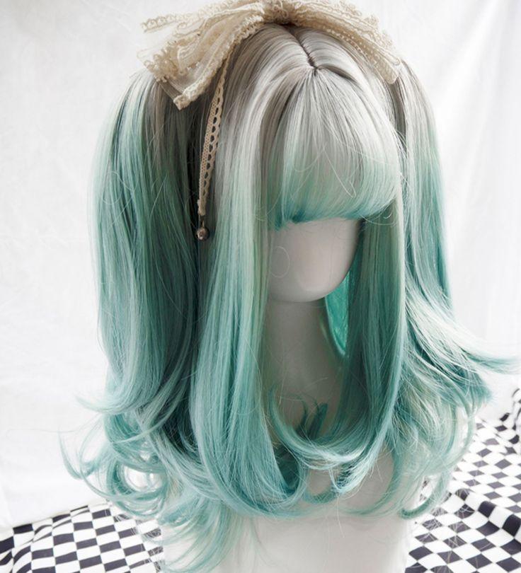 Gray gradient wig set KF8412