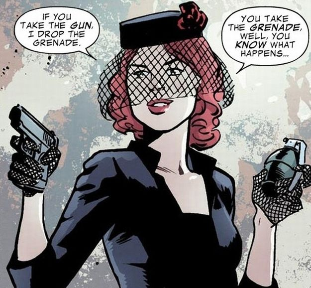 Black Widow follows the Boy Scout Motto.