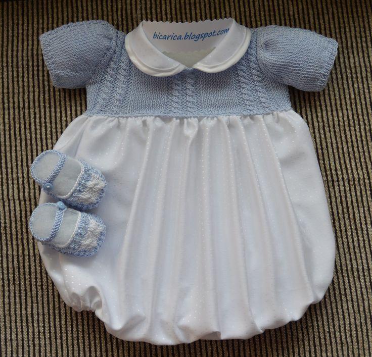 Ranita en blanco y azul|Bicarica|Ropita artesanal para bebés y niños/Ropa artesanal para bebé hecha en casa/Handmade baby clothes
