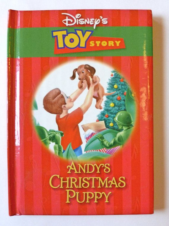 Toy Story Toys Vintage Disney Christmas Book Toy Story Andy 39;s Christmas Puppy