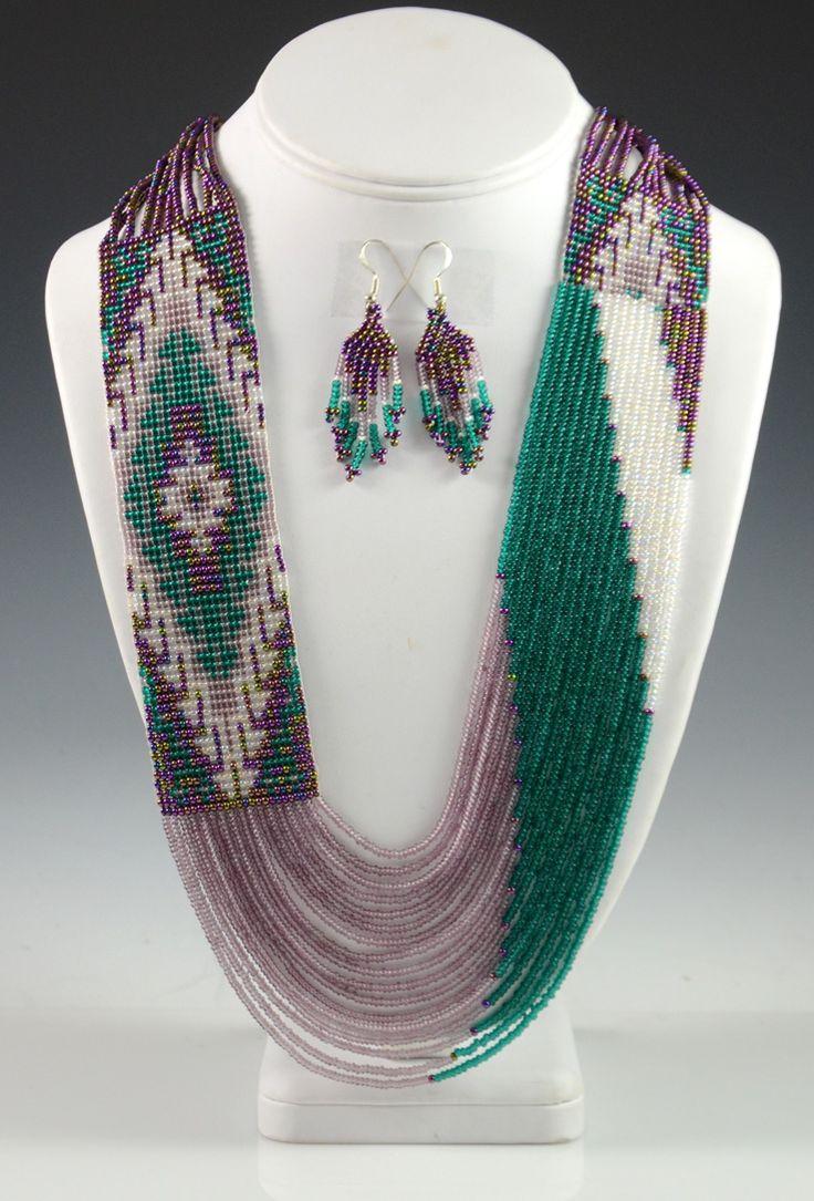 Navajo Beaded Necklace, Rena Charles, Navajo Necklace, Sedona Indian Jewelry, Sedona Native American Jewelry, Oak Creek Canyon