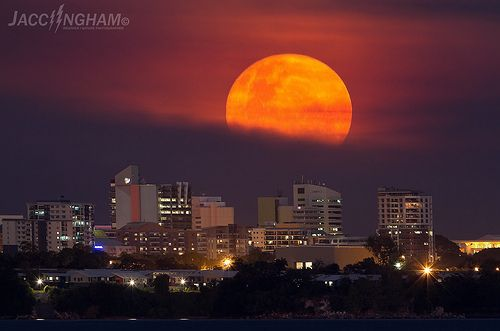 Full Moonrise over Darwin NT, Australia