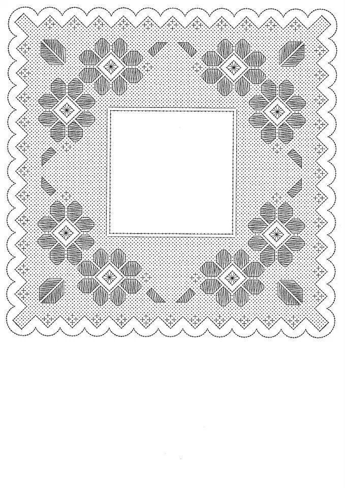 Pañuelo flower square