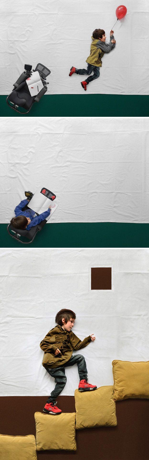 Lindo!! Fotógrafo realiza sonho de criança que vive em cadeira de rodas em série de fotos