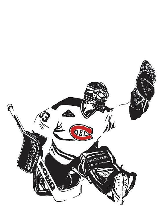 Patrick Roy Montreal Canadiens Goalie A4 Art by DeathRayPrints