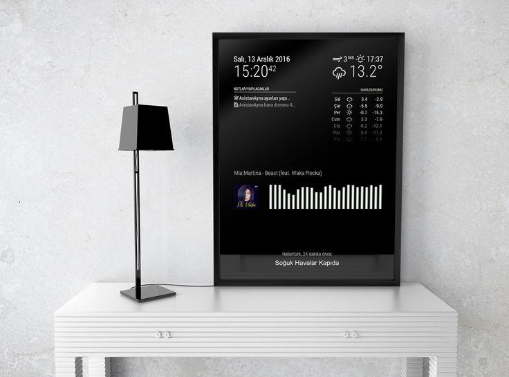 TulMirror interaktif aynamız ile odanızın şıklığına artı katın... #tulmirror #tulparyazilim #IoT #development #realtime #mirror #smartmirror