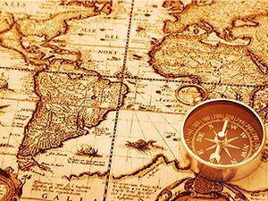 Fondo de Pantalla de mapa con brújula