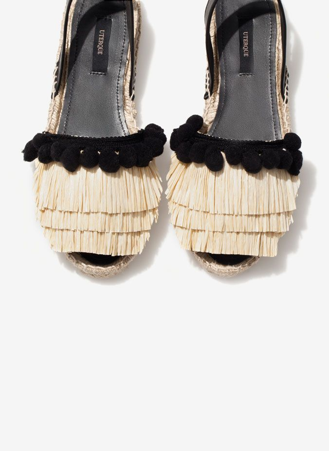 Uterqüe United Kingdom Product Page - Footwear - See all - Raffia espadrilles - 60