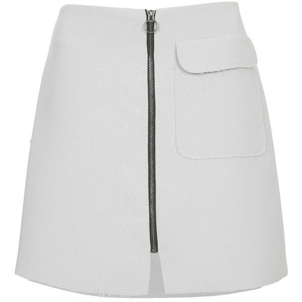 TOPSHOP PETITE Crepe Mini Skirt ($45) ❤ liked on Polyvore featuring skirts, mini skirts, bottoms, duck egg, petite, topshop, zipper skirt, petite skirts, mini skirt and short mini skirts