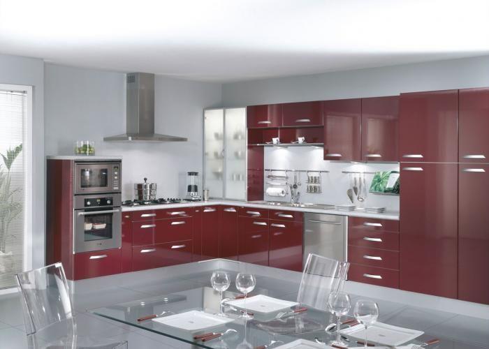 Design designinterieur cuisine sealise bordeaux for Cuisine couleur bordeaux brillant