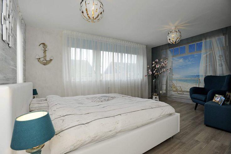 Nautische slaapkamer sfeer: Te koop aan de Berkenstraat 15 in Winkel. Twee-onder-een-kap woning met 4 kamers  - Klaver Makelaardij