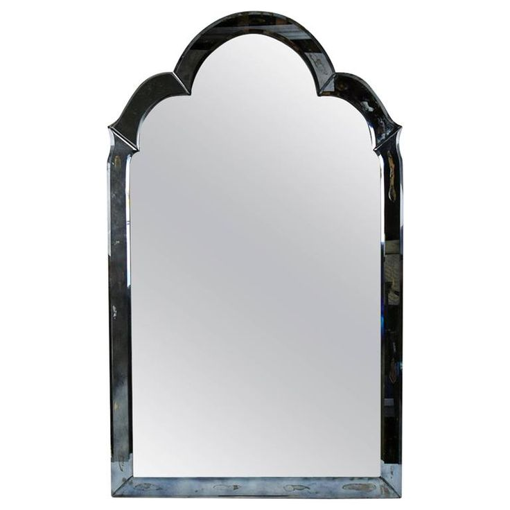 Regency Style Silver Wall Mirror For Sale at 1stdibs