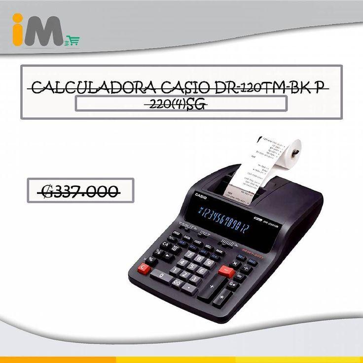 CALCULADORA CASIO DR-120TM-BK P 220(4) SG Excelente instrumento de apoyo para hacer cálculos rápidos y precisos. Marcador básico de la Ops de sumadora Casio DR-120TM-BK comer cada 3 dígitos del cálculo de los 12 dígitos memoria. Impuestos Coste Independiente del cálculo en los afectados. Se convertirá en tu aliado de confianza en tu negocio u oficina. 337.000 #Calculador #Calculadora #Casio #CalculadoraCasio #Calculos #Negocio #Oficina #3Digitos #Articulo #Aliado #Imegapy Imega.com.py…