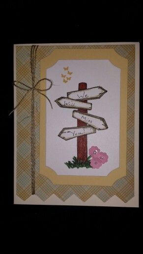 Goodbye for a co-worker | Farewell cards, Cards handmade ...