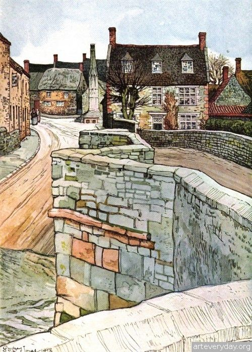Sydney R Jones master draftsman (1881-1966) born in Birmingham and studied at the Birmingham School of Art. He worked in an architect's office until the Great War when he served in Ireland. He designed Posters for London Transport in 1920