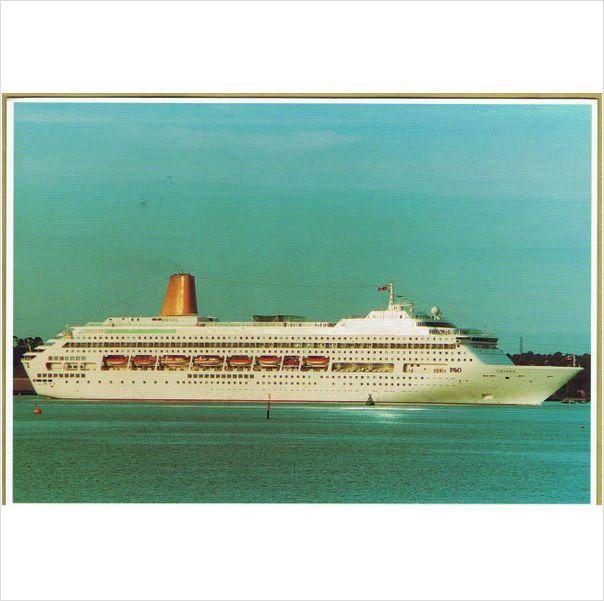 "P & O Cruise Liner - ""Oriana"" ~ #postcard posted in Barcelona 1998 on #eBid United Kingdom"
