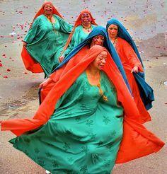 Nuestras Mujeres Wayúu bailando. Guajira Colombia.