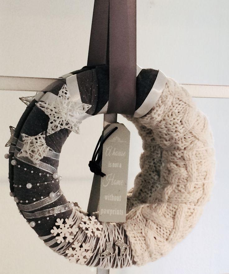 Winter Wreath * Türkranz Wolle Winterkranz