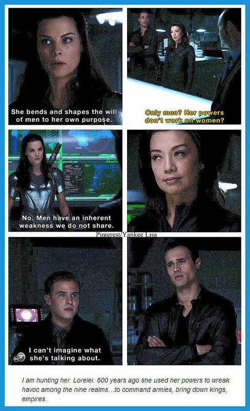 "Marvel's Agents of S.H.I.E.L.D. // I lave how May's just there like, ""Don't I know it sister."""