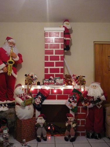 como hacer chimeneas navideñas en carton - Buscar con Google: