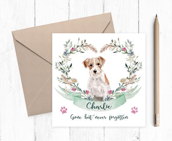 PERSONALIZED Pet Loss Card, Pet Sympathy Card, Sympathy Card, Personalized Dog Loss Card, Pet Memorial Card, Loss of Dog Card