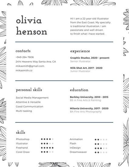 70 best Resume images on Pinterest Templates, Mint green and - resume for photographer