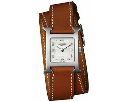 Hermes H Hour Small Ladies Quartz Watch with Double Wrap Strap ►► http://www.gemstoneslist.com/womens-watches/hermes-womens-watches.html?i=p